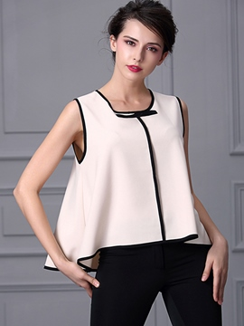 Ericdress Color Block Loose Vest