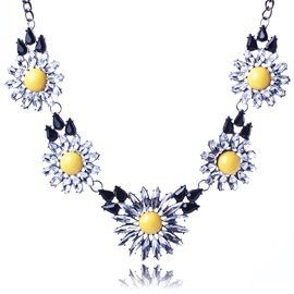 Ericdress Yellow Flowers Alloy Necklace