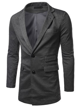 Ericdress Mid-Length Plain Single-Breasted Men's Blazer