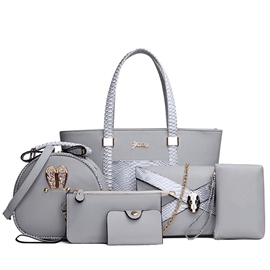Ericdress Serpentine Embossed Patchwork Handbags(6 Bags)
