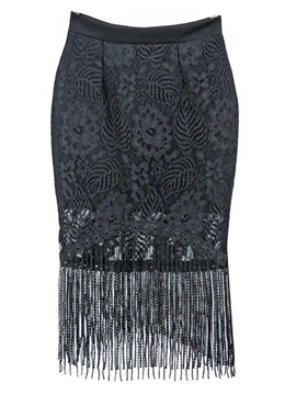 Ericdress Sweet Tassel Skirt