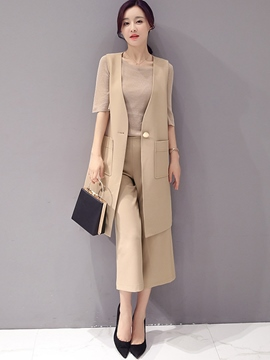 Ericdress Fashion Waistcoat Two-Piece Suit