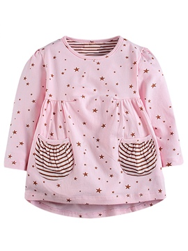 Ericdress Baby Star Printed Strip Patchwork Girls Dress