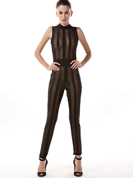 Ericdress Sexy See-Through Jumpsuits Pants