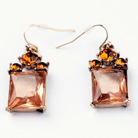 Ericdress Geometric Champagne Earrings