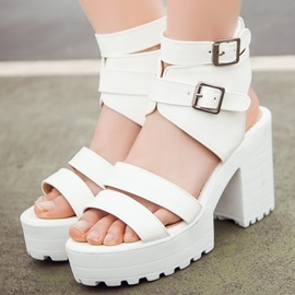 Ericdress Popular Open Toe Strappy Chunky Sandals