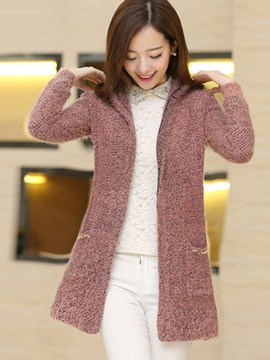 Ericdress Loose Solid Color Cardigan Knitwear