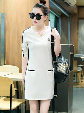 Ericdress Straight Korean Style Casual Dress