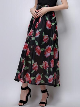 Ericdress Vintage A-Line Print Usual Skirt