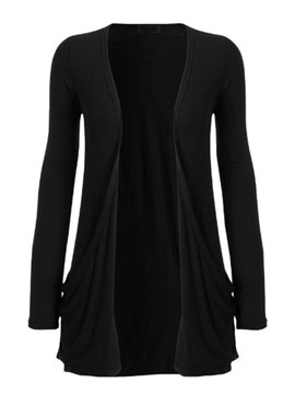 Ericdress Loose Solid Color Wrapped Knitwear