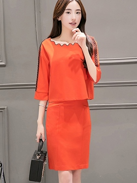 Ericdress Elegant Column Skirt Suit