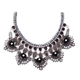 Ericdress Black Gemstones Inlaid Necklace