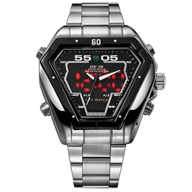 Ericdress LED Display Steel Belt Men's Watch
