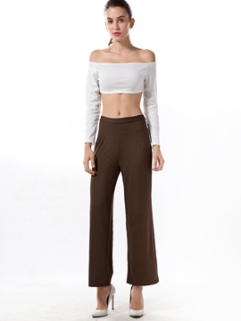 Ericdress Simple Wide Legs Pants Leisure Suit
