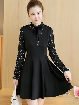 Ericdress Autumn Double-Layer Casual Dress