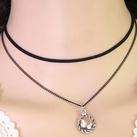Ericdress Water Drop Shaped Pendant Necklace