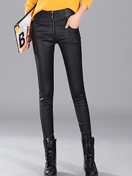Ericdress Fashion Zipper Leggings Pants