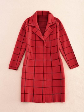 Ericdress Straight Plaid Knitwear