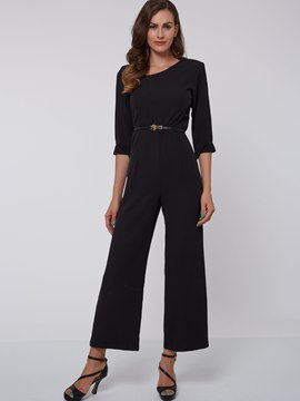 Ericdress Solid Color Half Sleeve Jumpsuits Pants