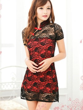 Ericdress Vintage Design Lace Sexy Slim Clubwear
