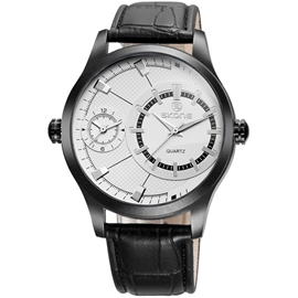 Ericdress Dual Movement Waterproof Leather Watch