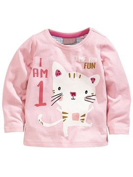 Ericdress Cartoon Patchwork Pure Baby Girls Tops