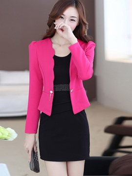 Ericdress Simple Bodycon Dress Suit