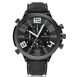 Ericdress Large Dial Round Analog Men's Watch