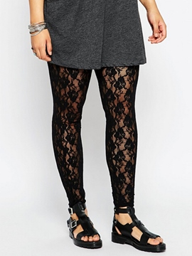 Ericdress Simple Lace Leggings Pants
