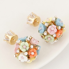 Ericdress Full Flowers Spherical Stud Earrings
