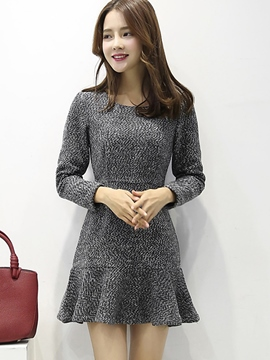 Ericdress Autumn Mermaid Long Sleeve Sweater Dress