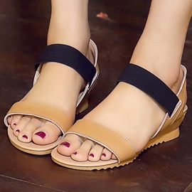 Ericdress Simple Contrast Color Wedge Sandals