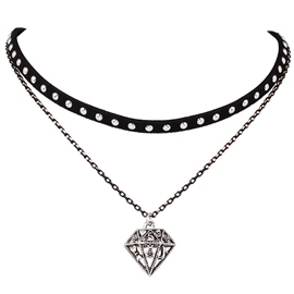 Ericdress Retro Alloy Diamond Choker Necklace