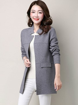 Ericdress Solid Color Loose Wrapped Knitwear