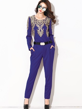 Ericdress Elegant Embroidery Suit