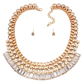 Ericdress Gold Plated Rhinestone Jewelry Set