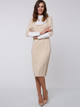 Ericdress Patchwork Vintage Sheath Dress