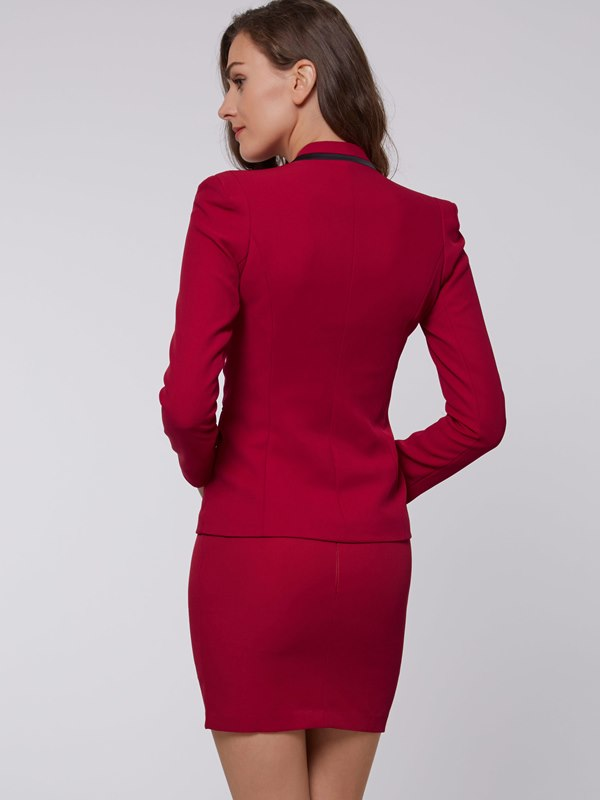 Ericdress Women's One-Button Blazer and Bodycon Skirt Suit