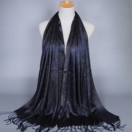 Ericdress Pure Color Gold Wire Tassels Scarf