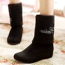Ericdress Sweet Suede Flat Boots