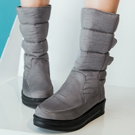 Ericdress Cozy Round Toe Flat Boots