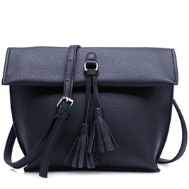 Ericdress Vogue Lichee Pattern Tassel Crossbody Bag
