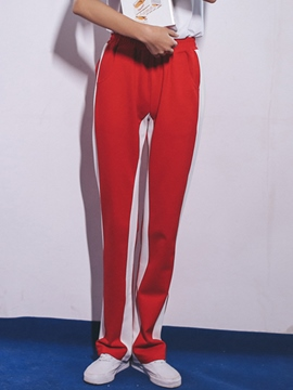 Ericdress Color Block Sports Pants
