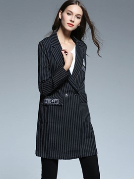 Ericdress Straight Stripped Blazer