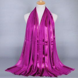 Ericdress Gold Thread Decorated Cotton Scarf