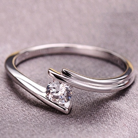 Ericdress Classic 925 Silver Diamond Ring