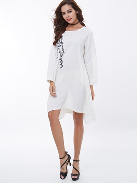Ericdress Embroidery A-Line Loose Casual Dress