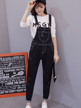 Ericdress Simple Fashion Suspender Pants