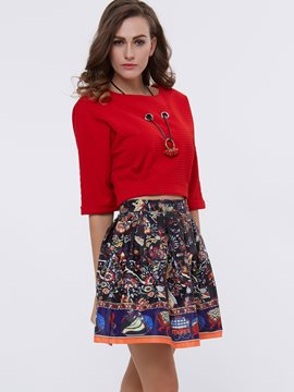 Ericdress Fashion Unique Print Skirt Suit