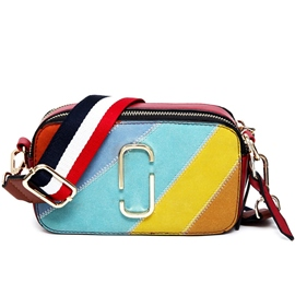 Ericdress Rainbow Stripe Nubuck Leather Crossbody Bag